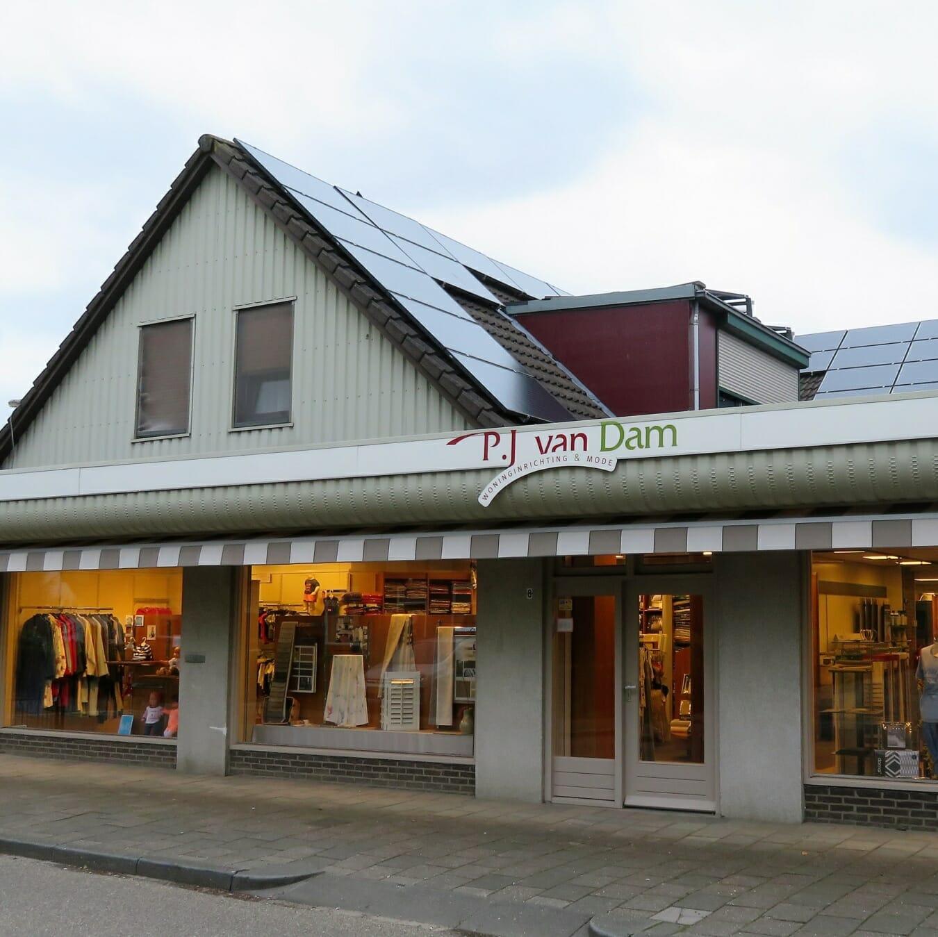 Pj van Dam - winkelpand buiten