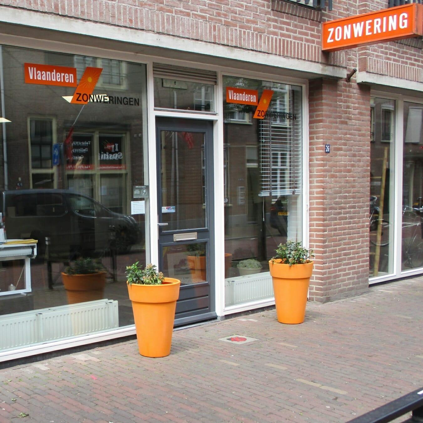 Vlaanderen zonweringen - winkelpand