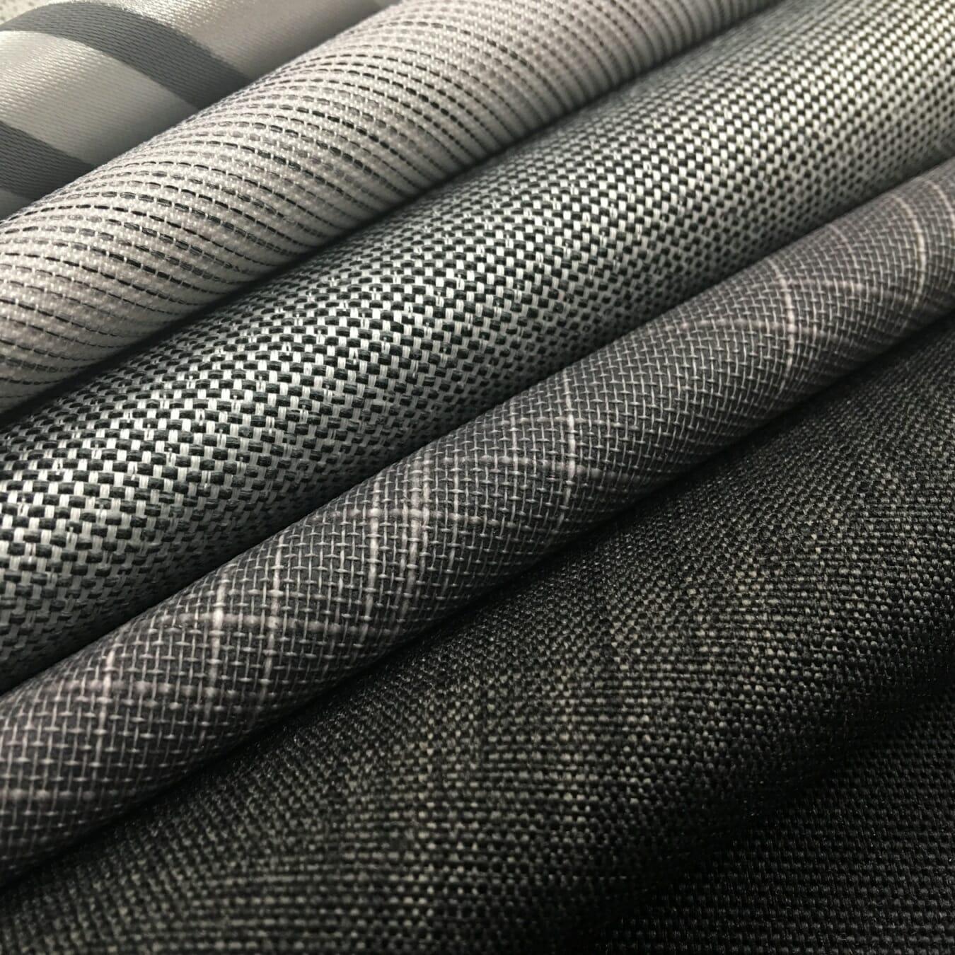 Rolgordijnen stoffen bruin grijs